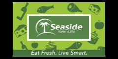A theme logo of Seaside Market & Deli